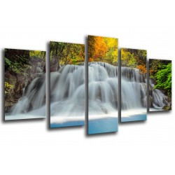 MULTI Wood Printings, Picture Wall Hanging, Landscape Waterfall River Nature