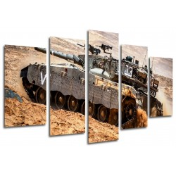 MULTI Wood Printings, Picture Wall Hanging, Tank, Weapons, Guerra