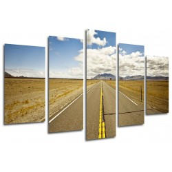 MULTI Wood Printings, Picture Wall Hanging, Road Desert, Rute 66