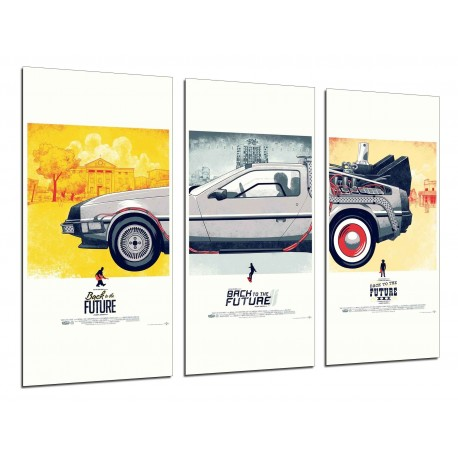 MULTI Wood Printings, Picture Wall Hanging, Return to the future, Cinema