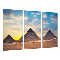 MULTI Wood Printings, Picture Wall Hanging, Landscape Pyramids Egypt Atardecer