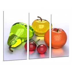 MULTI Wood Printings, Picture Wall Hanging, Composition of Fruits