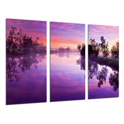 MULTI Wood Printings, Picture Wall Hanging, Landscape River Nature Atardecer