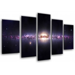 MULTI Wood Printings, Picture Wall Hanging, Espacio Outside, Universo, Via Lactea