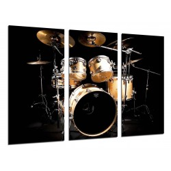 MULTI Wood Printings, Picture Wall Hanging, Music, Instrument Drums, Rock