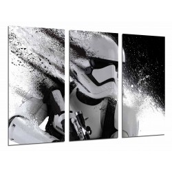 MULTI Wood Printings, Picture Wall Hanging, Star Wars, Stormtrooper, Army White, Helmet Blanco